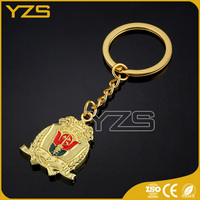 factory metal cheap custom keychains