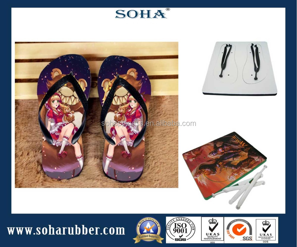 Blank new ladies rubber customized flip flop sublimation