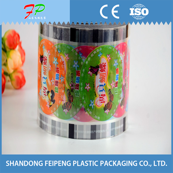 Best sale plastic cup lid film/sealing film for jelly packaging