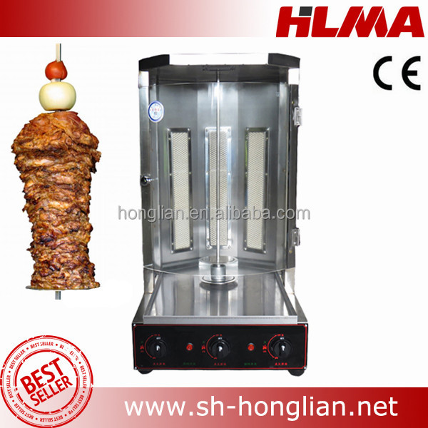 Turkish Doner Kebab Gas Shawarma / Kebab Making Machine