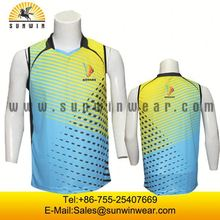 Cheap price orange volleyball men uniforms Wholesale badminton jerseys set
