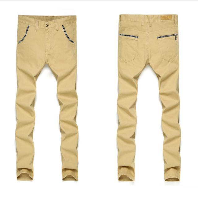 100% Cotton Summer Causal Men's straight Slim casual Pants