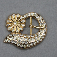 Rhinestone Round Pierced Leaf Metal Decorative