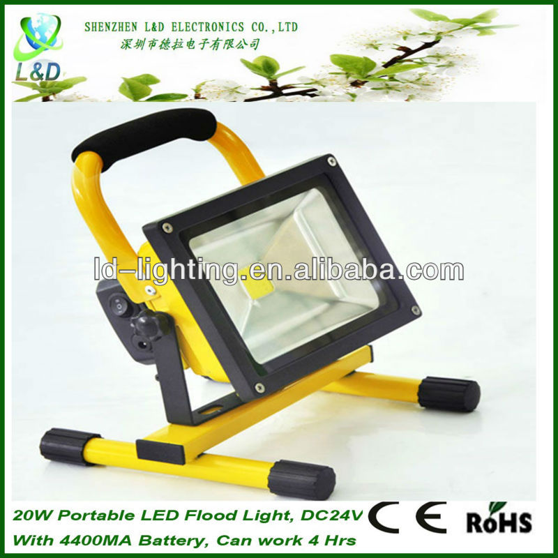 High Power Portable Battery Led Flood Light with 4400MA battery