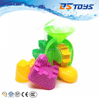 Children beach play toy plastic funnel with sand mold toys