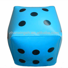 Custom plastic inflatable folding dice stool
