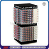 TSD-A238 cosmetic retail store rotating lip balm,counter top display unit, lipstick tower spinning