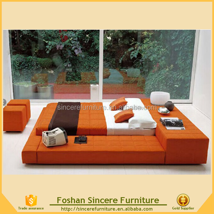 Japanese style fabric tatami floor bed