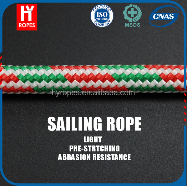 Vectran Synthetic Racing Yacht Sailing Double Braided Rope