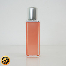 glass pump spray bottle 5ml 10ml 15ml 30ml 50ml double wall acrylic amber with golden color cap