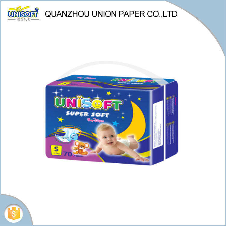 2017 Hot sell cheap factory price high absorption disposable unisoft baby diaper