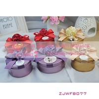 Colorful Metal Candy Boxes With Flower