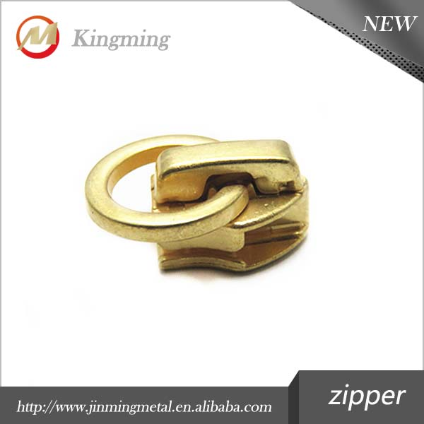 5# Gold Decorative Ring Zipper Pulls For Shoe