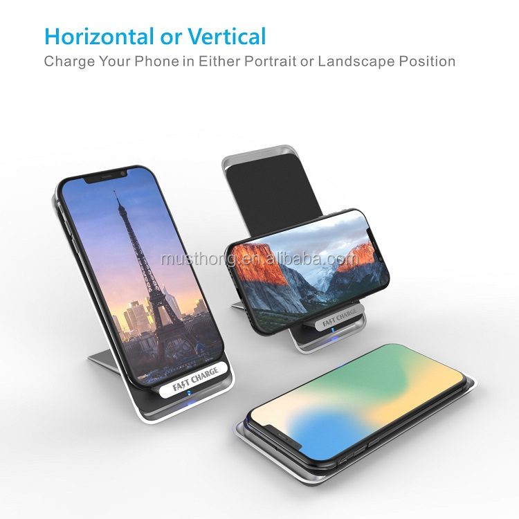 Shenzhen New Design Detachable Vertical Fast Wireless Charger for Samsung Galaxy S9/S8/S7 Edge and all Qi-Enabled Devices