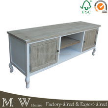 european style tv stand wood media table, living room tv stand fir wood with doors, tv stand wood