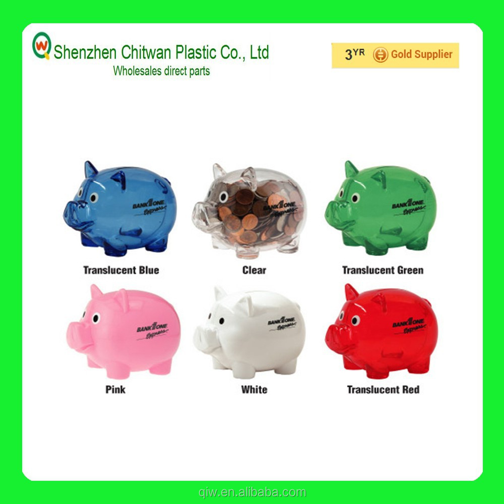 Plastic piggy banks for sale,best gift kids