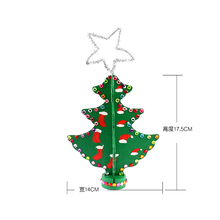 FQ brand wholesales custom best new Put the decoration Christmas mini tree wooden home christmas ornaments