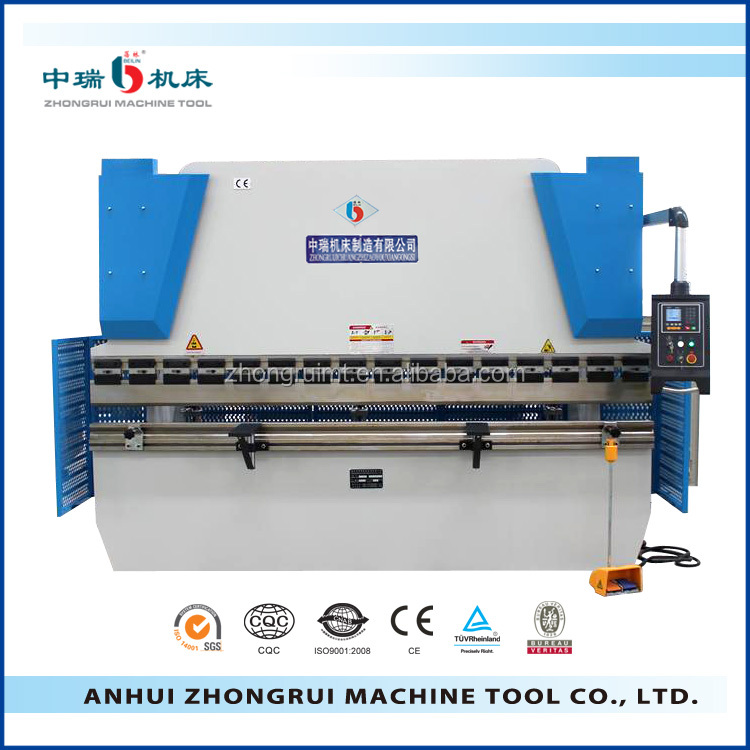 WC67Y-80T/2500 steel bender and cutter hydraulic sheet cutting bending machine CNC press brake bending machine
