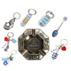 Logoson Famous Brand Beads Charms Greece Flag Keychain Rubber Nail Cutter Bottle Opener Greece Souvenirs