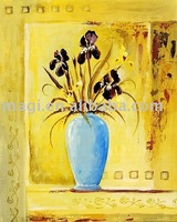 Modern Abstract Decorative Yellow Flower Art Painting