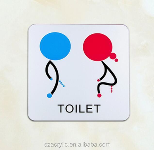 man and women bathroom acrylic sign acrylic toilet sign