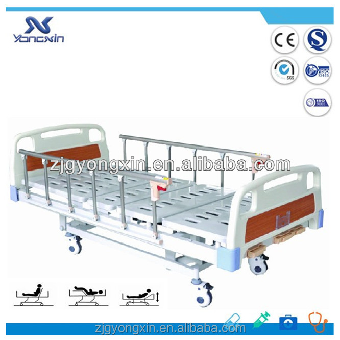 Hospital/household 3 crank manual hand control sickbed