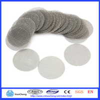 30mm round stainless steel 304 316 316L smoking pipe screens smoking pipe wire mesh filter screens(factory)