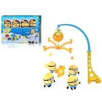 delightful baby bed bell toys crib musical mobiles with light