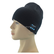 Best selling fashionable dark bule bluetooth beanie hat