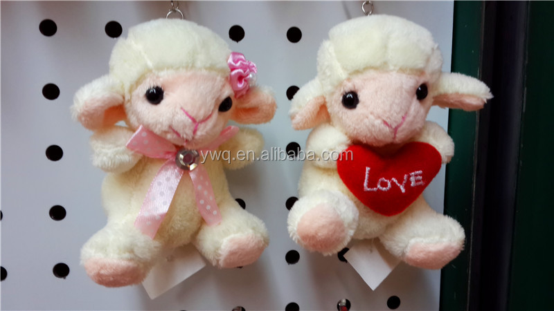 New style Goat toys keychains / wholesale cute sheep plush toy/Cuddy Fashion sheep toys for kids gifts