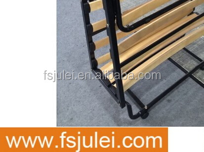 easy to operation space saving metal slats movable folding bed frame DJ-PQ14