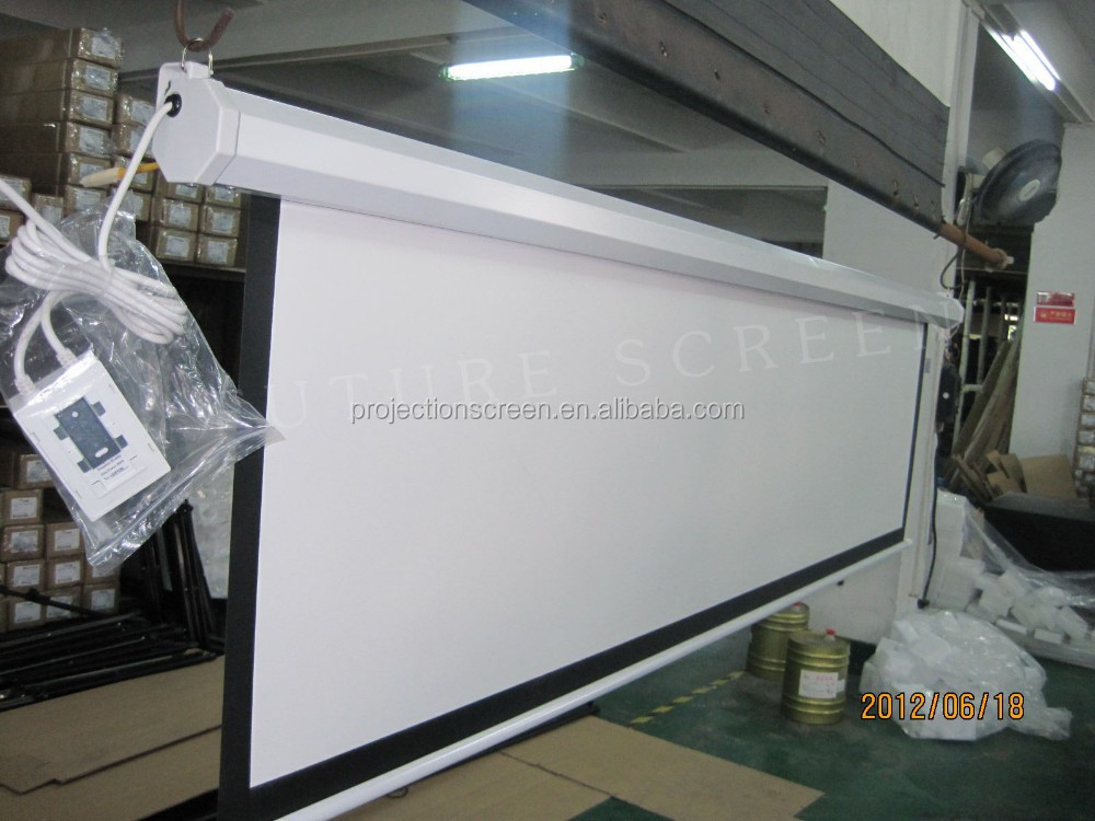 FUTURE Motorized Projection Screen/case choose White or black color