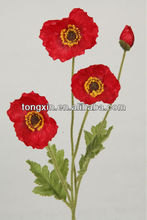 high quality festive collocation silk poppy