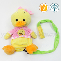 Newest velvet yellow duck pet bag for dogs