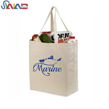 custom printing promotion leather handle cotton canvas tote bag