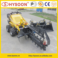 garden use hysoon mini trench digging machine