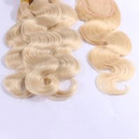 10a grade blonde color body wave human remy hair weft hair weave