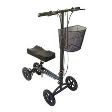 Adjustable and removable handle and knee pad height knee walker