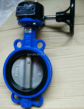 Cast iron ductile iron body gear box operated wafer type butterfly valve
