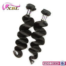 2015 XBL Factory Price 8A Grade Chemical Free Natural Double Drawn Remy Indian Hair