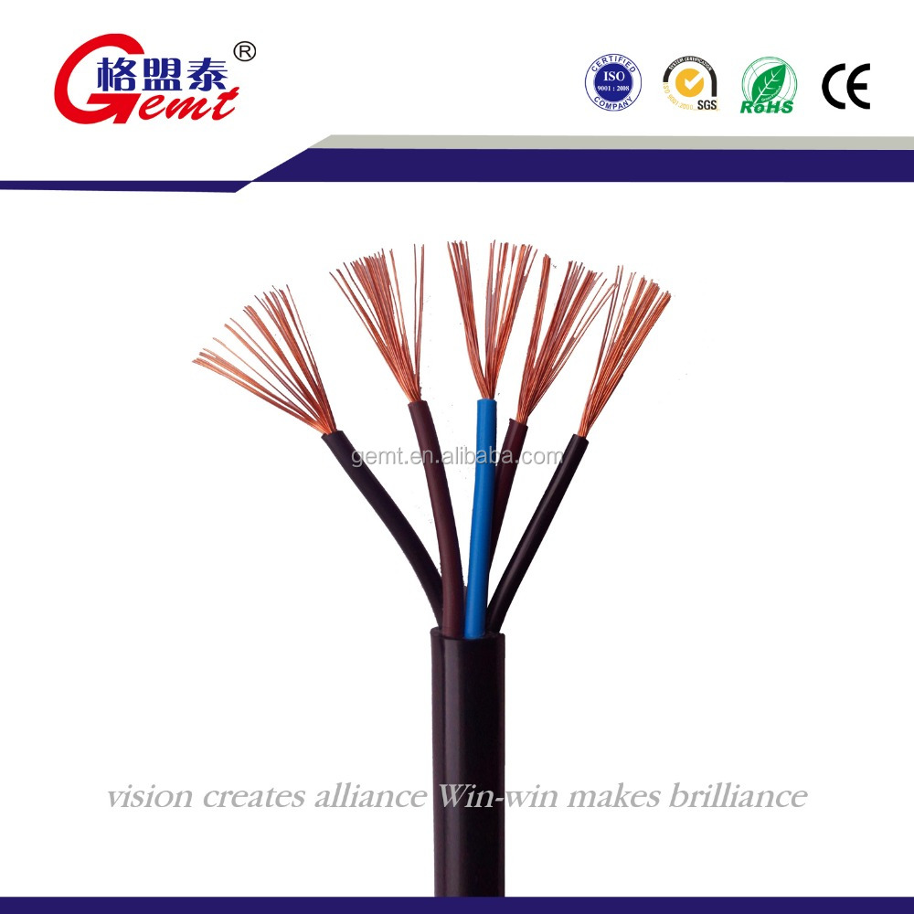 3 Core Flexible Copper PVC Round Wire and Cable
