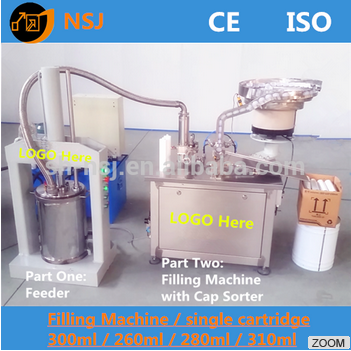 cartridge filling machine for glue silicone sealant 600ml