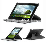 Black 360 Degree Rotating PU leather Tablet case cover stand For Asus Transformer Pad Infinity TF700