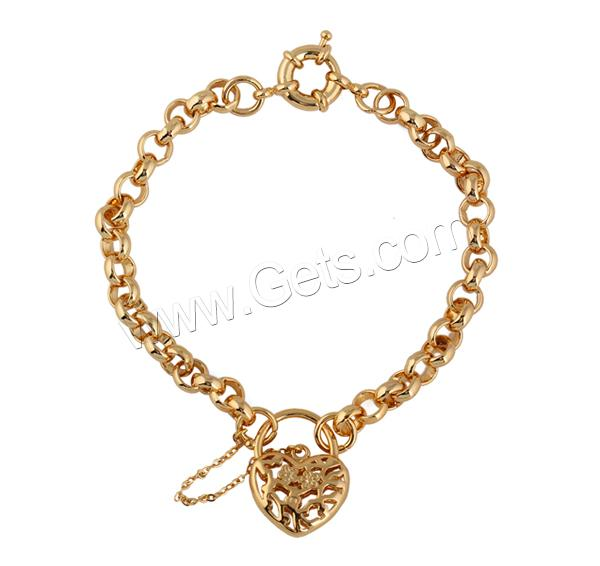 Brass Heart Hollow Heart Bracelet 810793