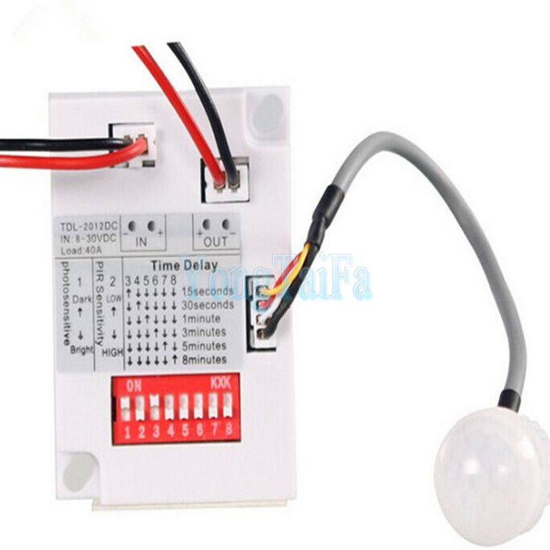 New Plastic Intelligent Light Body Sensor IR Module Motion Sensing Switch