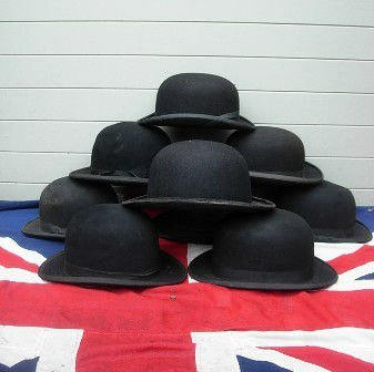 ANTIQUE ENGLISH BOWLER HATS