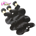 XBL premium quality cheap virgin remy hair cuticle aligned brazilian hair body wave