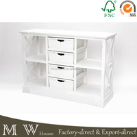 french shabby chic console with drawer, white painted wooden console with drawer, console with drawer