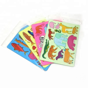 Plastic animal stencil ruler for kids