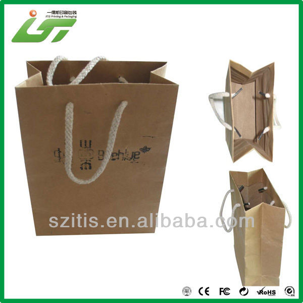 Luxury kraft euro tote paper bag with hot stamping